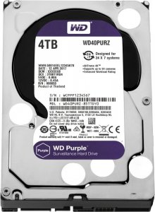 Жесткий диск HDD 4000 GB (4 TB) SATA-III Purple (WD40PURZ)